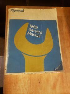 1969 Plymouth Shop Manual Belvedere Road Runner Satellite Gtx Repair Service 69 Service Repair Manuals Car Manuals Literature