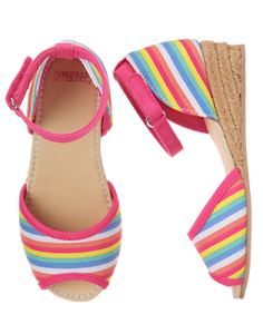 NWT Gymboree Sugar Reef Rainbow Espadrille Shoes 10,11,12,13,1,4 Girls