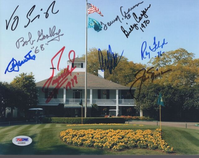 SEVE BALLESTEROS+JACK NICKLAUS HAND SIGNED 8x10 PHOTO     9 SIGNED    PSA LETTER