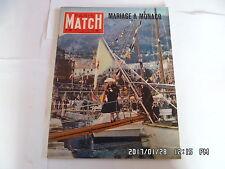 PARIS MATCH N°367 21/4/1956 GRACE KELLY MARIAGE A MONACO AVA GARDNER       K22