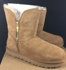8f463d47813 Details about UGG Classic Short Florence Chestnut Suede Sheepskin Boots  Womens 1013165