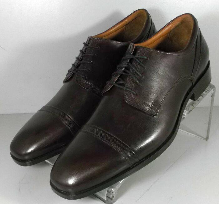 182053 SP50 Men's Shoes Size 9 M Burgundy Leather Lace Up Johnston & Murphy