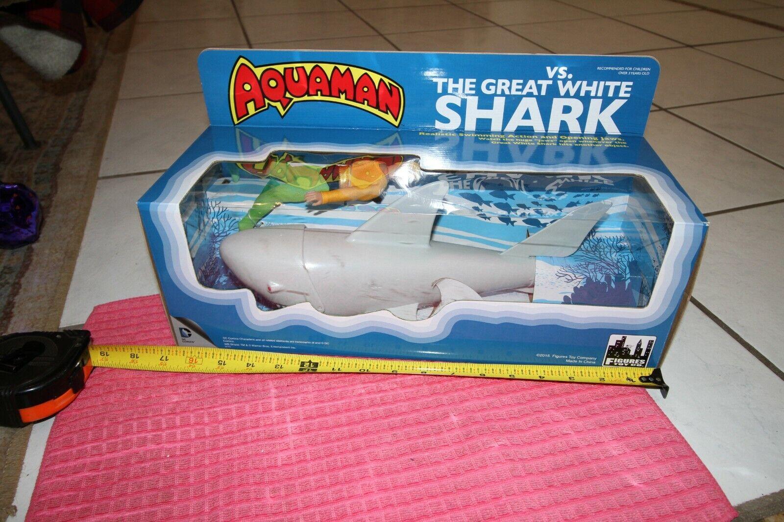 DC Comics Aquaman VS. The Great White Shark Retro Retro Retro Playset by FTC NIB be8444