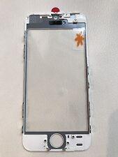 iPhone 5S Glas Scheibe Displayglas mit Rahmen + OCA /cold press frame weiß white