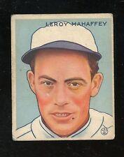 "1933 Goudey #196    Leroy Mahaffey    Athletics     ""No Creases""    LOOK"