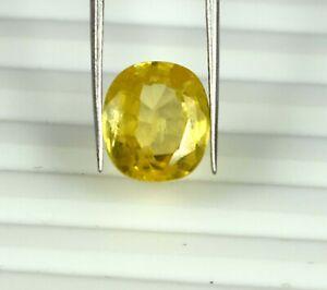 Cushion 12 Ct Yellow Sapphire Jewelry Making Gemstone Natural Certified S7452