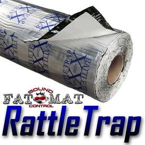 60 sq.ft FATMAT RATTLETRAP Car Van Sound Deadening/Heat Proofing +Dynamat Roller