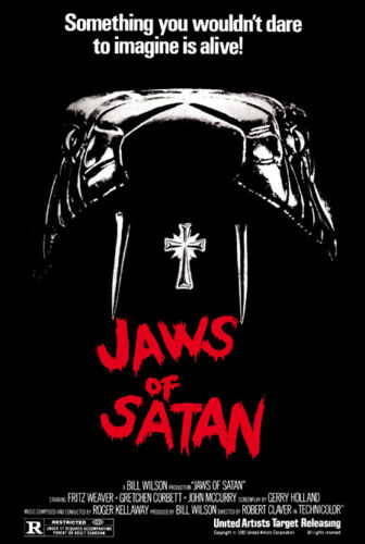 Jaws of Satan Fritz Weaver Horror movie poster print