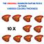 Guitar Picks 10 Pack Various Colors The Original Landstrom Sharkfin Plectrums