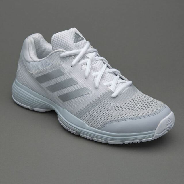 Adidas Womens Girls Barricade Club Tennis Shoes Trainers BB3378 Size UK 4, 4.5