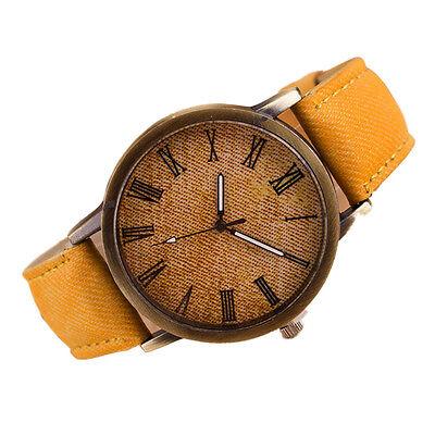 Retro Men's Quartz Watches Analog Stainless Steel Cowboy Leather Wrist Watch New