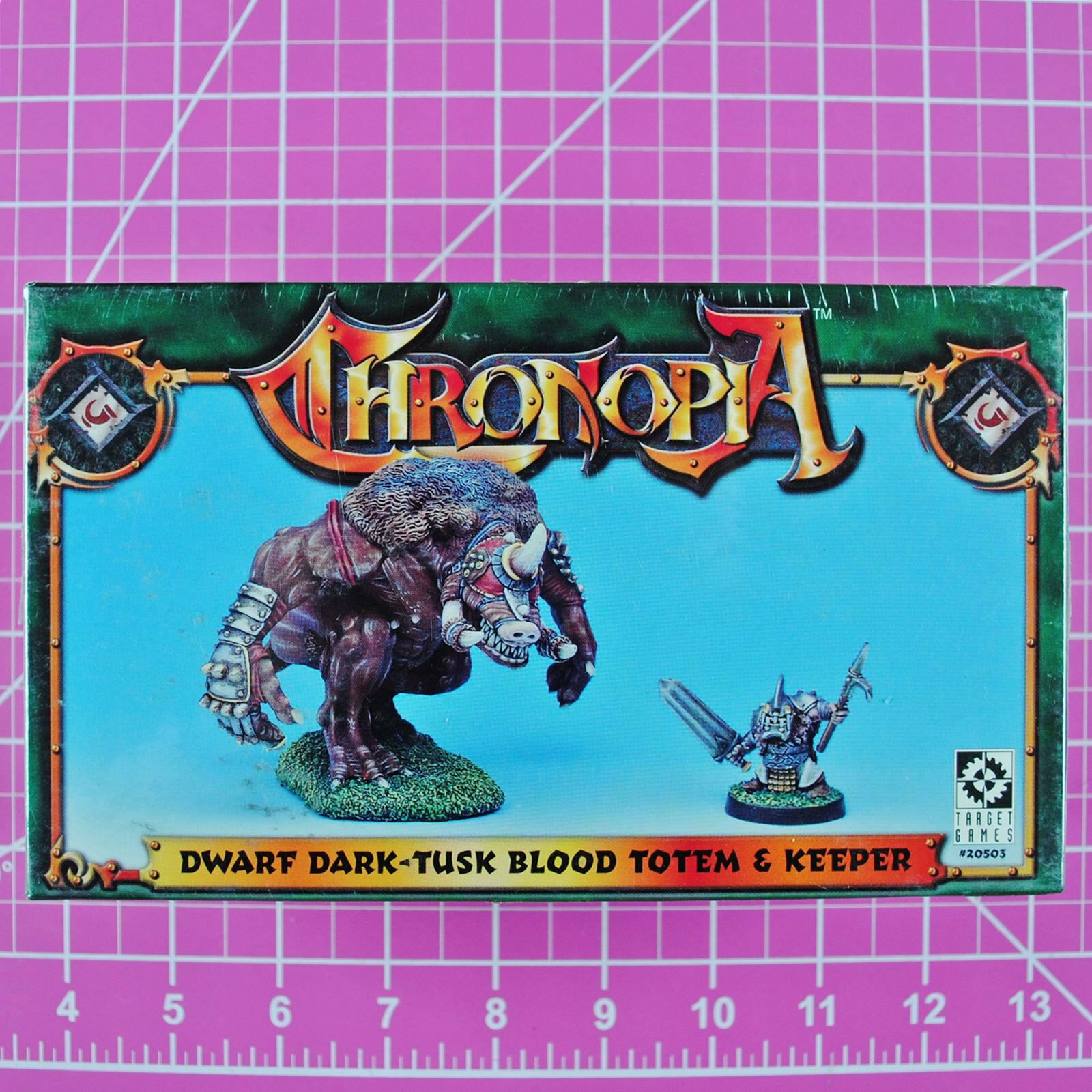 Chronopia Dwarf Dark-Tusk Blood Totem & Keeper NIB OOP Target Games Heartbreaker