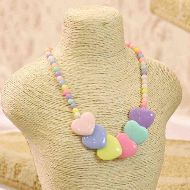 Girls Jewelry Heart-shaped Children Accessories Kids Necklace Pendant