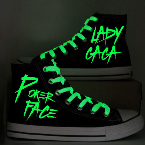 Lady Gaga Canvas Shoes Glow in the dark Sneakers Men Women/'s Casual Shoes Unisex