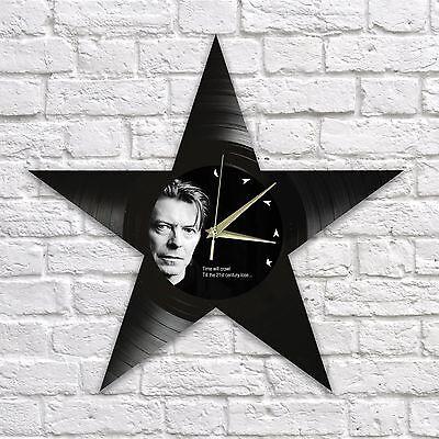 DAVID BOWIE BLACKSTAR vinyl record wall clock