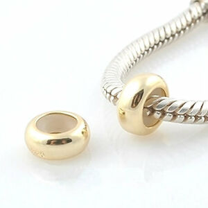One-STOPPER-gold-plated-Solid-925-sterling-silver-European-charm-bead