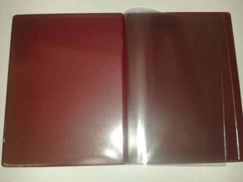 CLASSIC LOOK QTY 40 A4 MENU HOLDERCOVER//FOLDER IN BURGUNDY LEATHER LOOK PVC