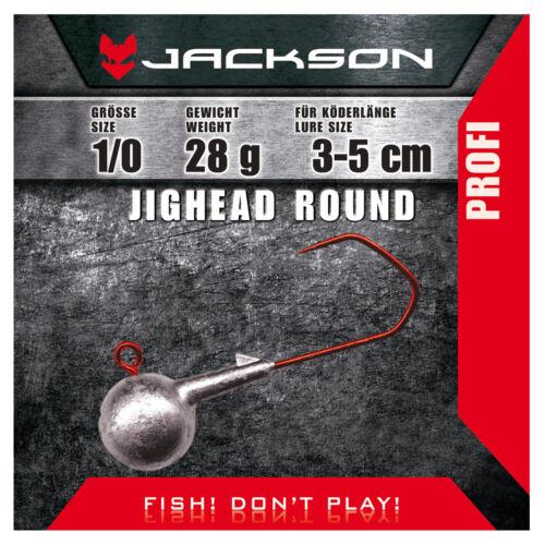 Jackson VMC Jighead Jigkopf 6 Stück Round 1//0 für Köderlänge 3-5 cm 7g