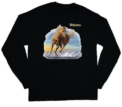 long sleeve t-shirt for men Palomino horse breed men/'s black shirt