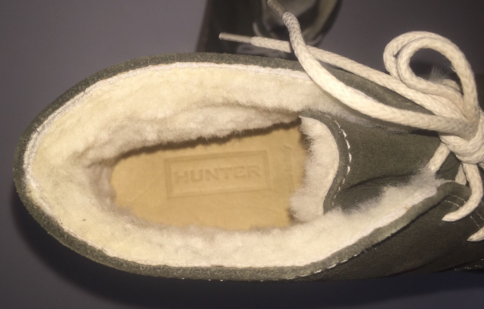 NEW Hunter Kensington Water-Resistant Suede Ankle Stiefel W    Shearling EU 36 7c7544