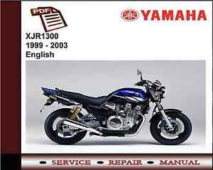 yamaha xjr1300 xjr 1300 1999 2003 service repair workshop manual rh ebay co uk yamaha xjr 1300 workshop manual pdf yamaha xjr 1300 workshop manual