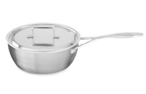 KitchenAid KCC 720 CEST 2 Qt Professionnel Acier Inoxydable Conique Saute Pan avec couvercle nouveau