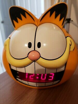 91 Sunbeam Garfield Head Digital Alarm Clock Model 887 99 Electric Vtg Read Ebay