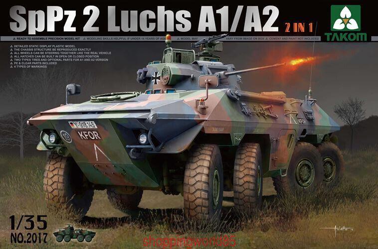 Takom 2017 1 35 Sp Pz 2 Luchs A1 A2