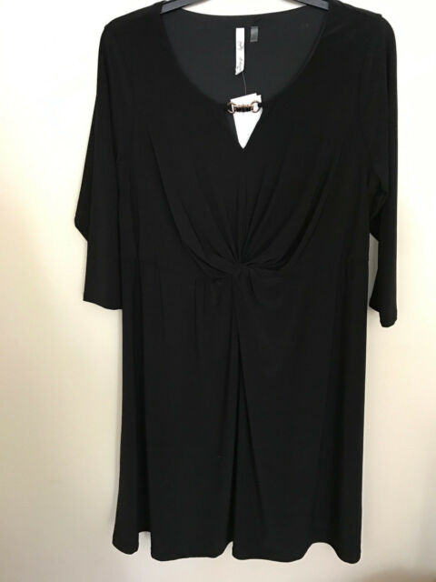 Ny Collection Plus Size Dress 1x Ruched A Line Style Black 2nd Ebay