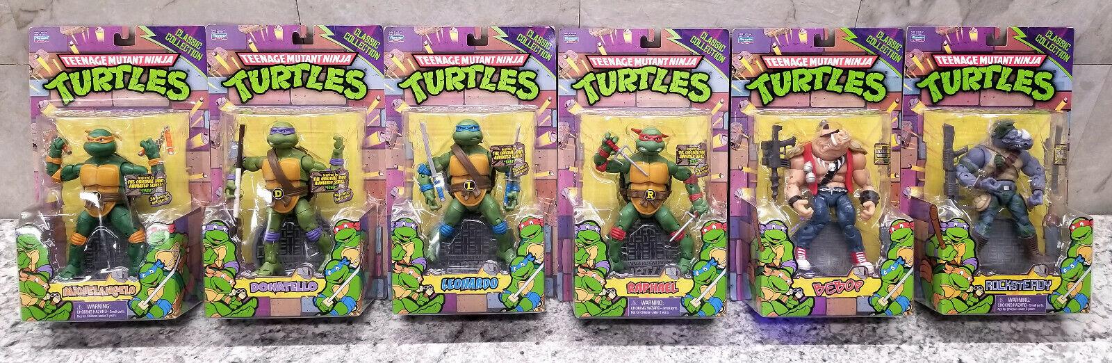 NEW x6 Teenage Mutant Ninja Turtles Classic Collection 8  figures Animated 80's