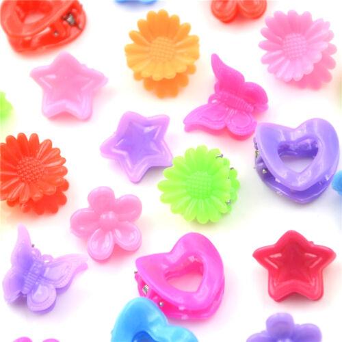 20Stk cute Assorted Plastic schöne Kids Girls Mini Hair Claw Clips Klemme ZP
