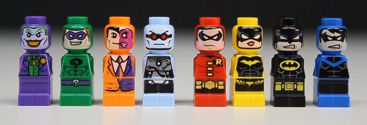 Lego Super Heroes 50003 - Complete 8 Microfig Batman Joker Robin Minifigure Nuovo
