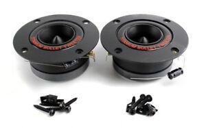 2-NEW-Pyramid-TW18BK-3-25-034-300W-Pro-Horn-Car-Audio-Tweeters-Speaker-Titanium