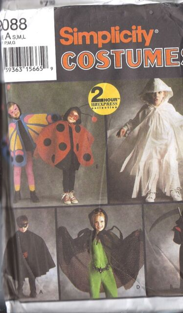UNCUT Simplicity Vintage Sewing Pattern Halloween Costume Butterfly Ladybug 9088