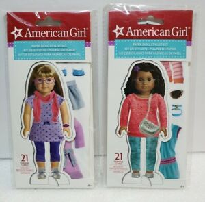 American Girl Paper Doll Stylist Set 21 Fashion Clings Lot of 2 New and Sealed