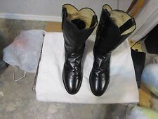 Justin Roper Mens Cowboy Boots Style 3133  Size 9.5 D Black Leather