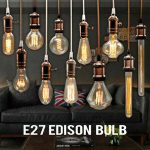 Edison Vintage Retro Glühlampe Filament Birne Glühbirne  ST64  E27  230V  40W