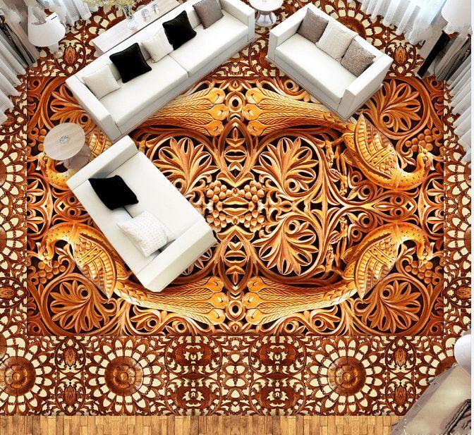 3D Golden pattern 3737390 Fototapeten Wandbild Fototapete BildTapete Familie DE