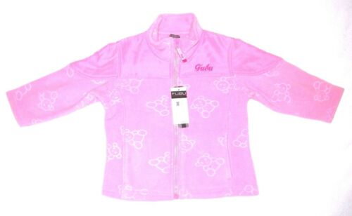 FUBU Toddler Girl/'s Sz 2T FLEECE Pink Teddy Bear Zip Front Jacket Soft $45 ~ NWT