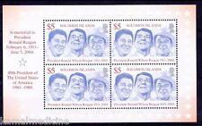 Solomon Islands MNH SS, Ronald Regan, US President, Famous People, Politi-  Fi11