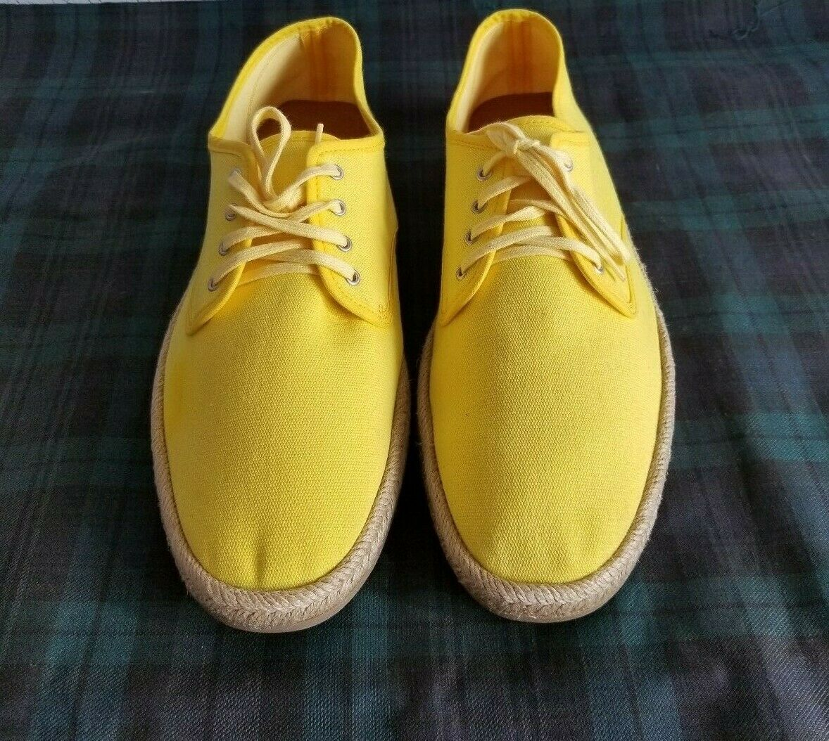 Ralph Lauren Collection Salston Canvas bright yellow lace-up shoes (US11.D) SPAIN