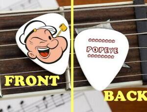 "POPEYE THE SAILOR MAN Vinyl Circle Sticker 3.75"" Laptop ... |Popeye Guitar"