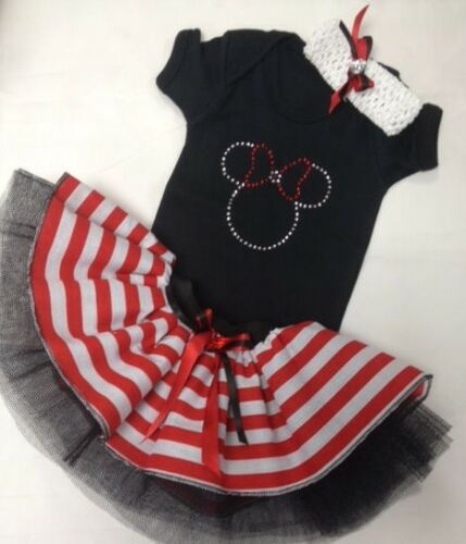 PIRATE TUTU SET MINNIE MOUSE SPARKLE BABY GROW 80S FANCY DRESS PARTY COSTUME