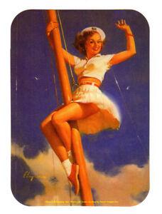 GIL ELVGREN 1950'S VINTAGE PIN UP GIRL MODEL ART CHEESECAKE GLOSSY DECAL STICKER