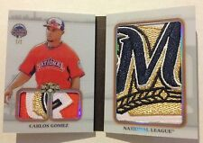 Carlos Gomez 2014 Topps Triple Threads Book Jumbo Sleeve BREWERS Team Patch 1/1
