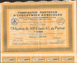DECO => Compagnie Nouvelle d'INDUSTRIES AGRICOLES (J)