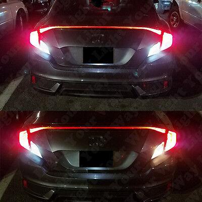 2x Xenon White 64132 LED Reverse Backup Light Bulbs For 2016 2017 Civic COUPE