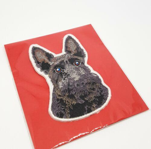 Fidèles Amis-Scottish Terrier Motif Fer Sur Broderie Patch-ENVOI GRATUIT