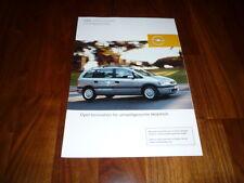 Opel Zafira CNG Prospekt 03/2002