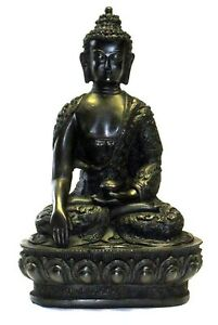 Sitting-Buddha-Stone-Effect-Garden-Outoor-Indoor-Statue-Ornament-Thai-Style-10cm